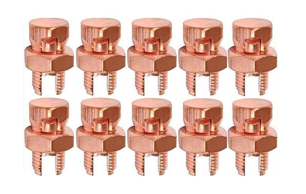 10 Pack High Strength Split Bolt Connectors 4 Gauge 8 Gauge Solid UL Listed