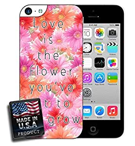 Love is the Flower Quote Pink Daisy iPhone 5c Hard Case