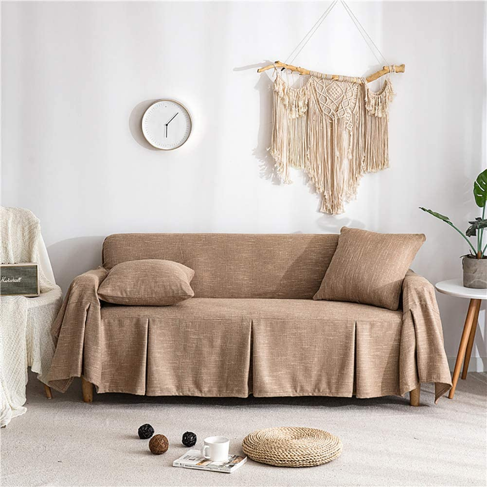 Cotton Linen Decorative Square Sofa Pillows and Covers Pack of 1 18x18 Lanqinglv Beige Cushion Inners with Cushion Covers 45x45cm