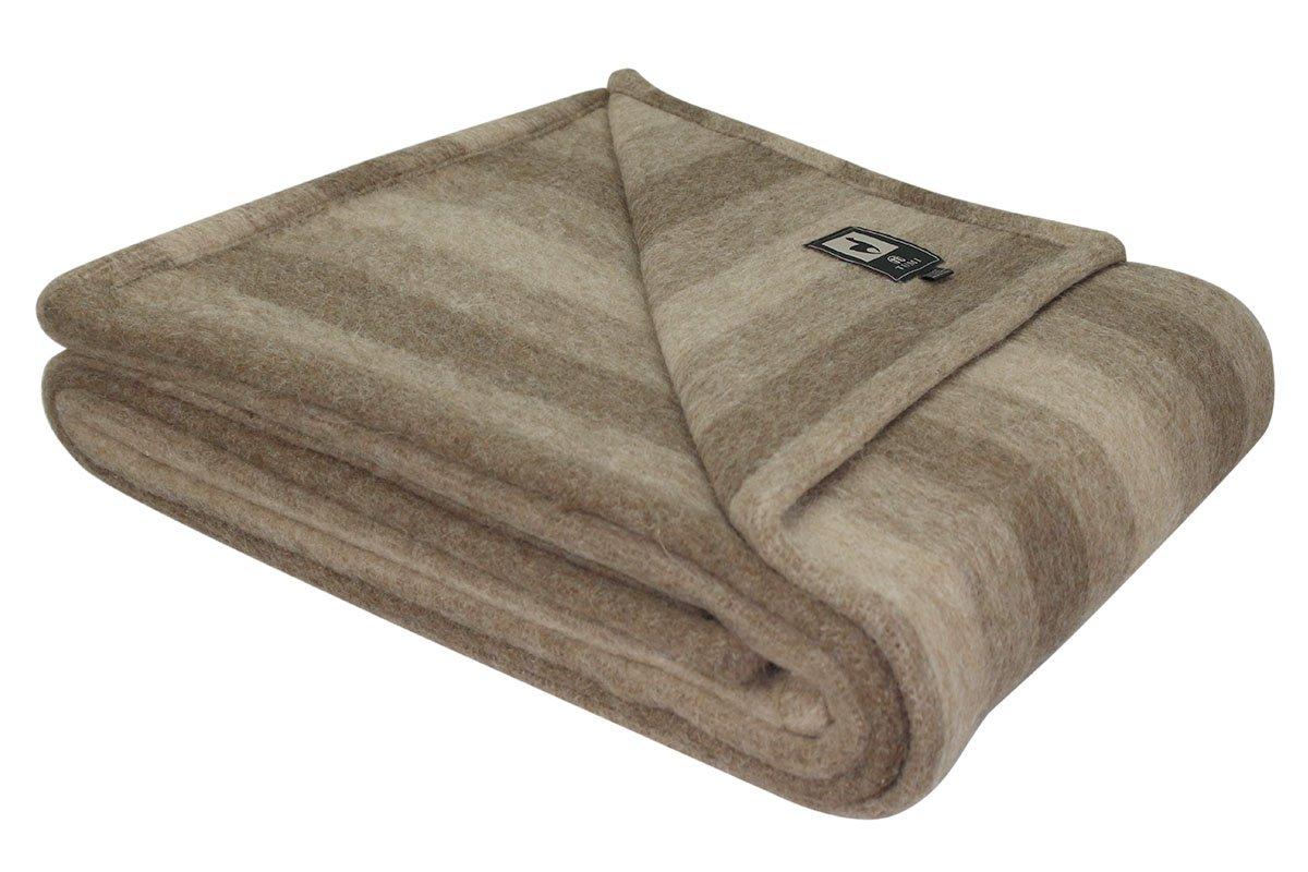Superfine編みアルパカウールベッド毛布ツインサイズ100 %天然繊維 Twin Size 90