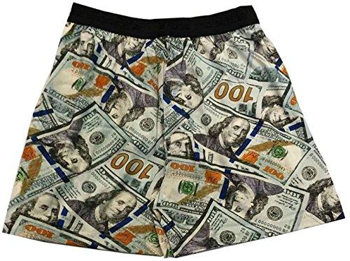 Fun Boxers Mens Fun Prints Boxer Shorts, Benjamins Redesign, Large (For Lego Men Boxers)