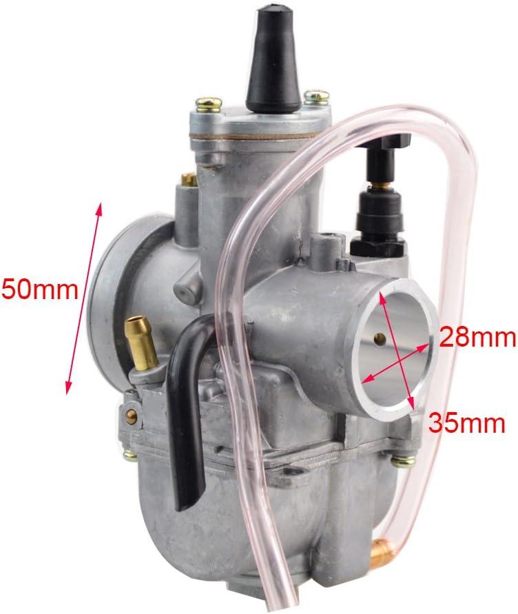 GOOFIT 30mm Carburateur Visible Twister C/âble poign/ées Tuning Power Jet Acc/él/ération Pompe Cas 150cc 175cc 200cc ATV pour vert