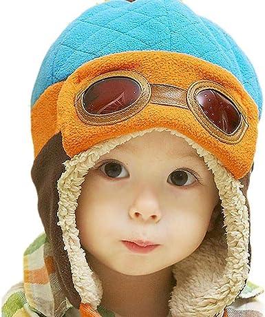 Baby Kinder Wintermütze Pilotenmütze Fliegermütze Warm Kappe Hut Mützen
