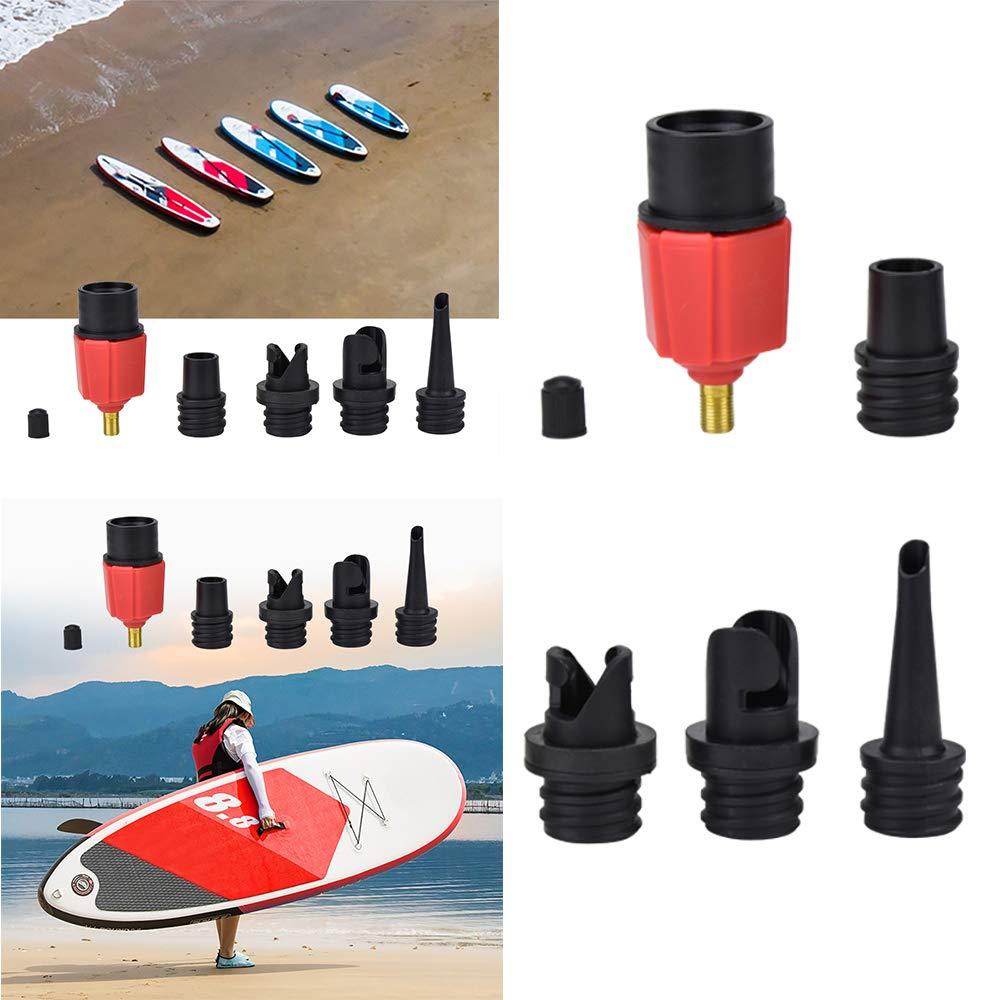 FreeLeben Adaptador de Válvula Bomba Aire, Remo de Tabla de Paletas Inflable Barco Stand Up Paddle Kayak Surf Accesorio Fit Coche/Bicicleta Tienda de ...
