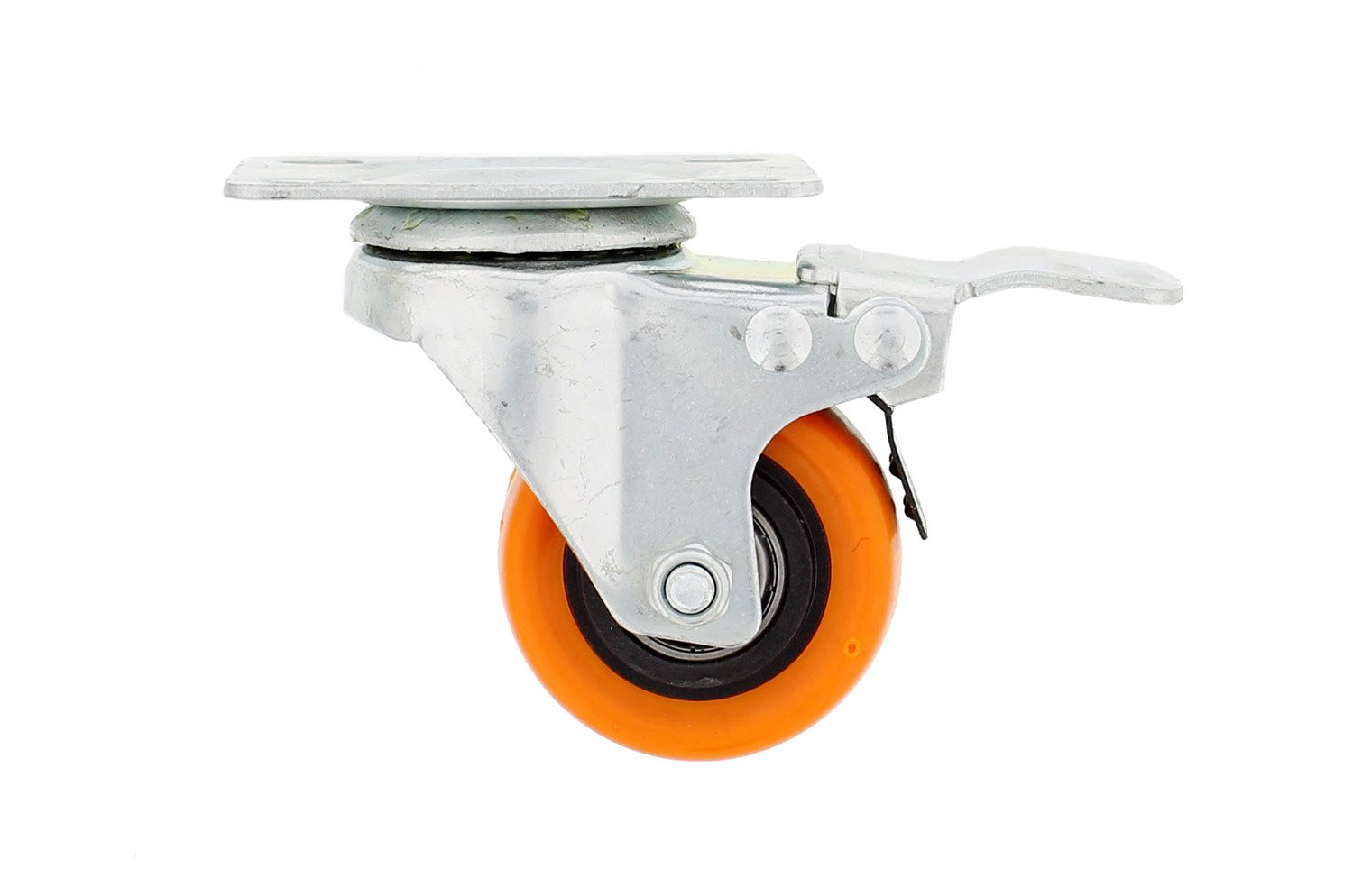 """ABN Caster Wheel Heavy-Duty Swivel Stem Locking Casters with Hard Rubber Wheels for Furniture 2/"""" Inches Set of 4"""