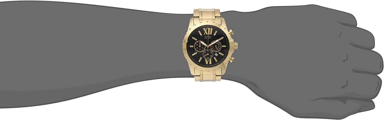 Guess U0193G1 para hombre Oro Tono Acero Inoxidable Reloj