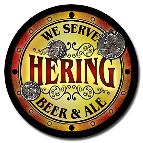 hering-family-name-beer-and-ale-rubber-drink-coasters-set-of-4