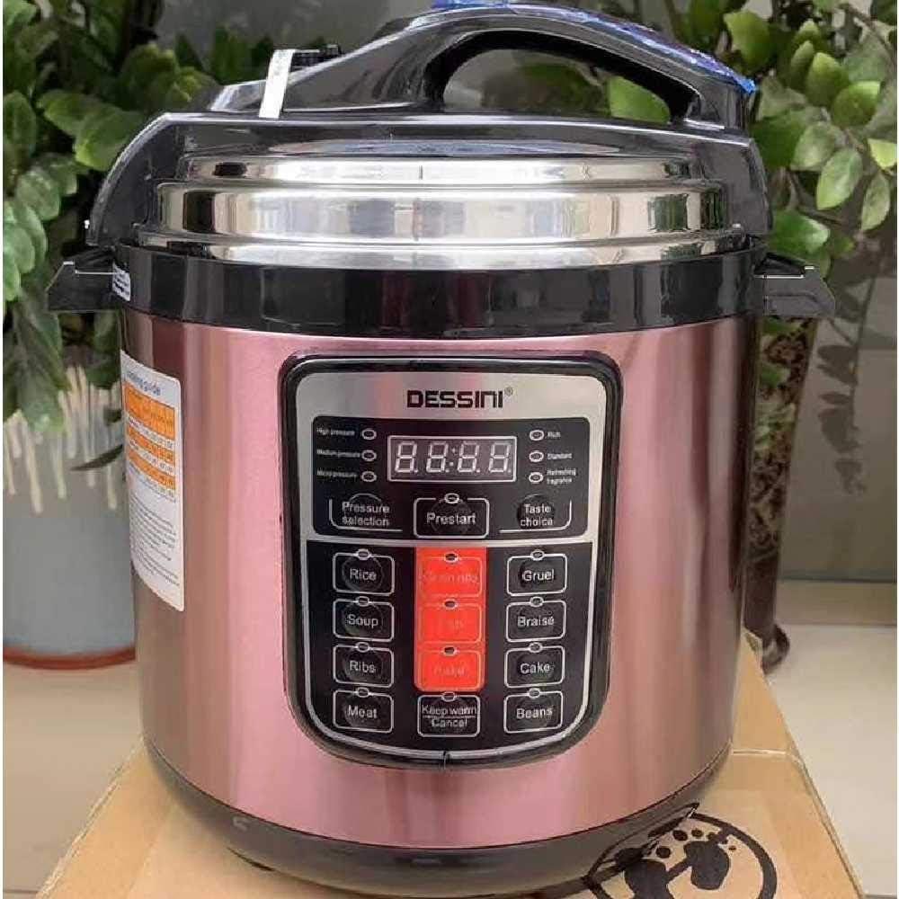 Ubrand 6L Electric Pressure Cooker Programmable Slow Cooker and Pressure Cooker, with Manual Pressure 6L British Plug/Pink
