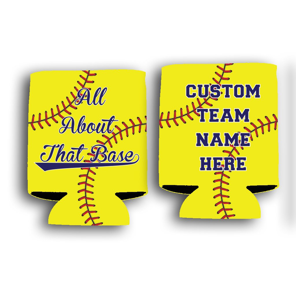 Custom Rec League Softball Can Cooler - All About That Base Custom Softball Team Name Can Cooler (48)