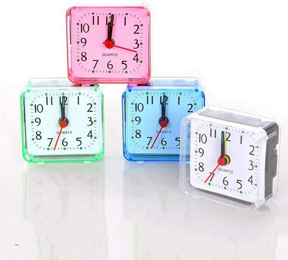 Sunnyday Creative Mignon Petit Carr/é Cristal R/éveil Montre R/éveil Chambre Bureau De Chevet Horloge /Électronique