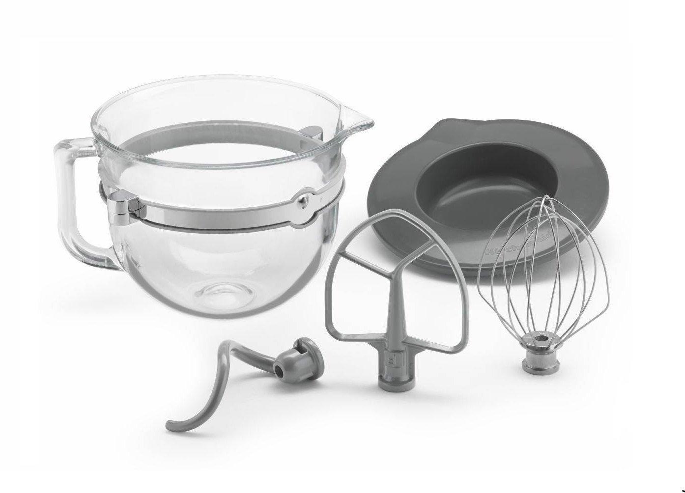 KitchenAid Glass 6 Quart Mixing Bowl with Accessories for Bowl-lift Stand Mixers KSMF6GB