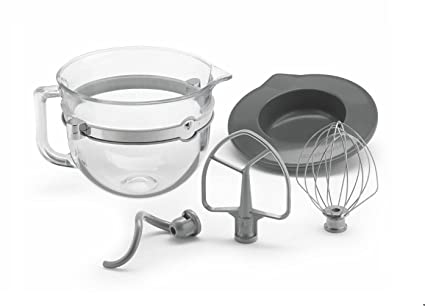 Amazon.com: KitchenAid 6 Quart Gl Mixing Bowl with Accessories ... on portable drum mixer stand, kitchenaid 6 qt glass bowl, kitchenaid artisan stand mixer cobalt blue, kitchenaid classic stand mixer,