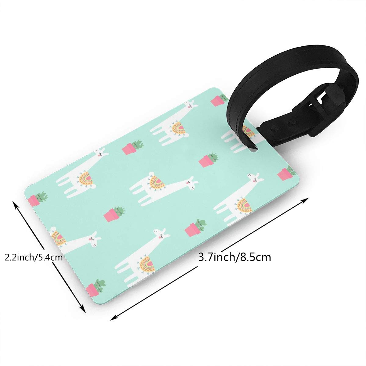 4bd6d2f20311 Amazon.com : J1S0H0RTBAG Cute Lama with Cacti Pattern Luggage Tag ...