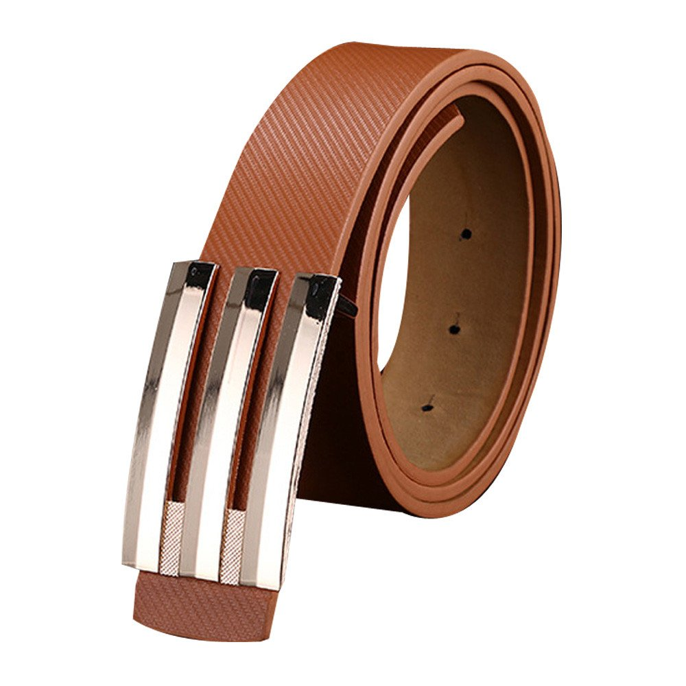 yoyorule Belts Men Women Automatic Buckle Leather Waist Strap Belts Buckle Belt