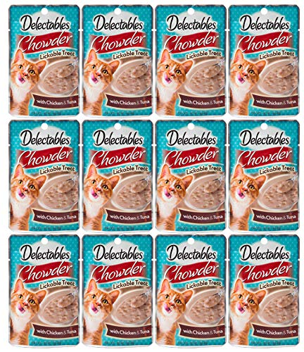 Delectables Chowder Lickable Wet Cat Treats - Chicken & Tuna - 12 Pack - ()