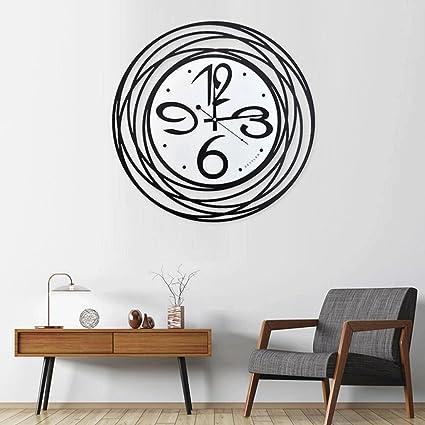 reloj de pared YYF Redondo del Planeta Reloj Grande Creativo Reloj de Moda Reloj de Hierro