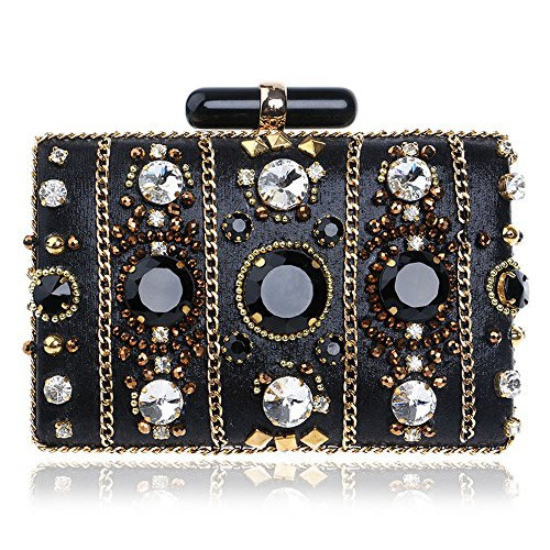 EnYang Diamond And Crystal Clutch Purses For Women Bridal Evening Bags And Clutches