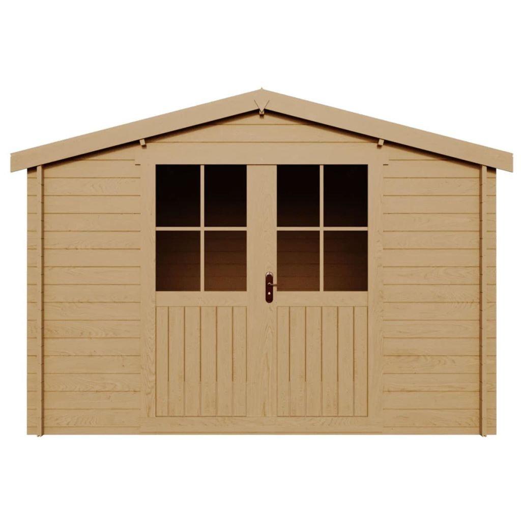 Festnight - Cobertizo de madera, 28 mm, para jardín, casa, cobertizo, madera, cobertizo de almacenamiento, 3,1 x 3 m: Amazon.es: Hogar