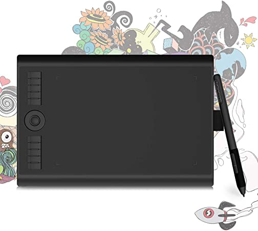 Gaomon M10k Pro 10 X 6 25 Inches Art Digital Graphic Tablet For Drawing Supports Tilt Radial Function With 10 Shortcut Keys Work On Android Os Pc Electronics Amazon Com