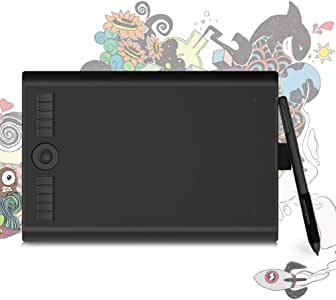 GAOMOM M10K PRO 10'' Android Supported Graphic Art Tablet with Tilt Supported 8192 Levels Battery-free Stylus and 10 Hot Keys,Radial Function Supported