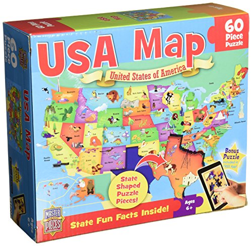 MasterPieces USA Map Jigsaw Puzzle, 60-Piece