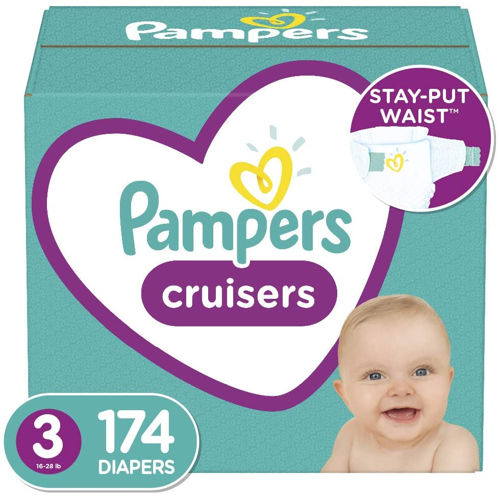 Diapers Size 3, 174 Count - Pampers Cruisers Disposable Baby Diapers, ONE...