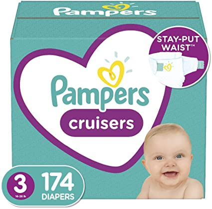 Pampers Cruisers Disposable Diapers Size 3 174 Count