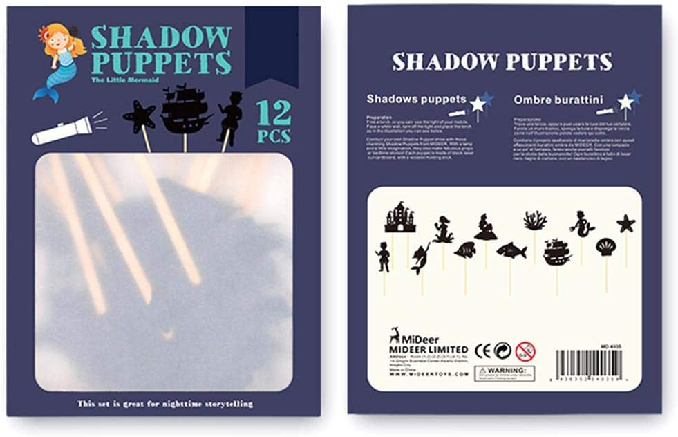 Educational Silhouette Game Interesting Hand Puppets Picture Parent-Child Cognition Game Lotuny Chinese Traditional Shadow Puppets for Kid