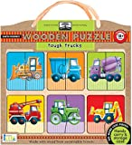Innovative Kids Green Start Wooden Puzzles: Tough Trucks (18Mos+) Puzzle