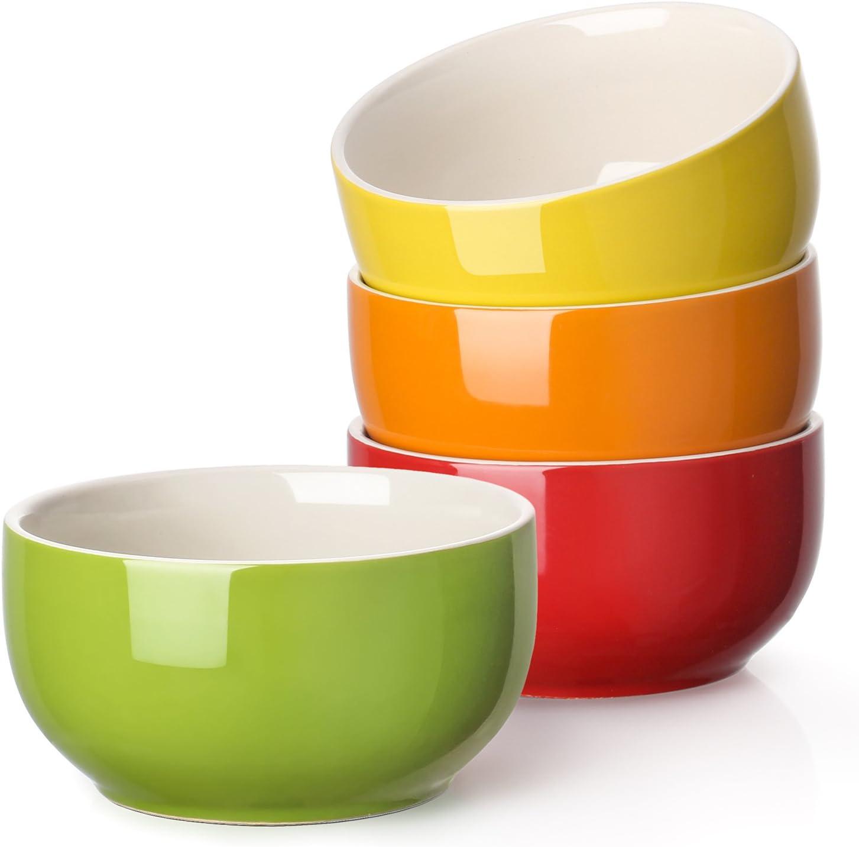Lifver 20 Ounces Porcelain Soup Bowl Cereal Bowl Set Assorted Colors Set Of 4 Amazon Co Uk Kitchen Home