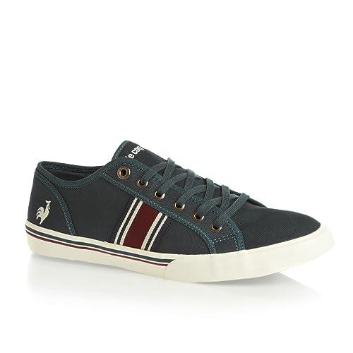 Le Coq Sportif Saint Tropez - Zapatillas de Deporte de Lona Hombre, Azul (Azul), 12 UK: Amazon.es: Zapatos y complementos