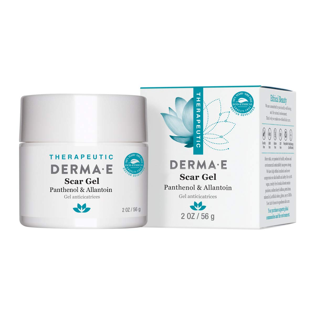 DERMA E Scar Gel, Helps Scarred Skin Heal, 2 oz by DERMA-E