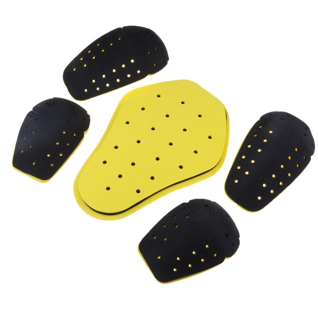 /Épaule Sharplace Ensemble de 5pcs Protection de Corp Motard Accessoire Moto Portection de Dos Coude