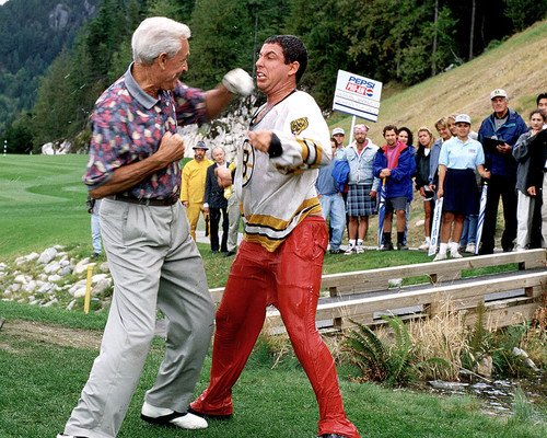 Happy Gilmore Bob Barker punches Adam Sandler 8x10 Promotional Photograph