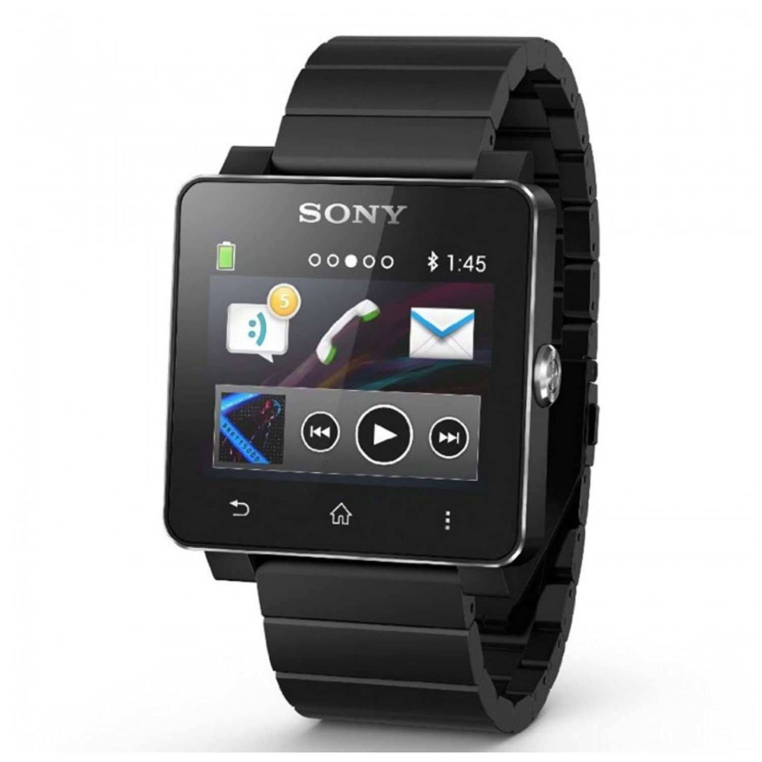 Sony SW2 SmartWatch 2 Bluetooth Water Resistant Android Watch Metal Wristband Stainless Steel Wristband....