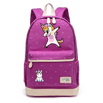 Amazon.com: Cartoon Backpack Shoulder Travel Bag For Teenagers Girls Women Canvas Dot School Bag