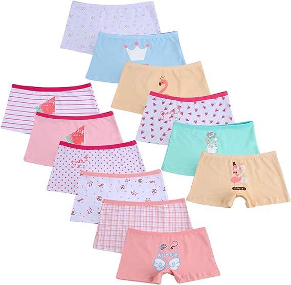 Kidear Kids Series Little Girls Multi-Pack Undershirt Soft Cotton Camisole Tank Tops