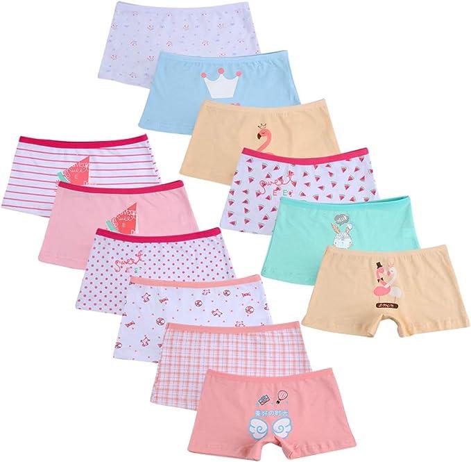 Kidear Bragas Cortas de algodón para niñas pequeñas de la Serie para niños Ropa Interior variada para bebés (Paquete de 12): Amazon.es: Ropa y accesorios