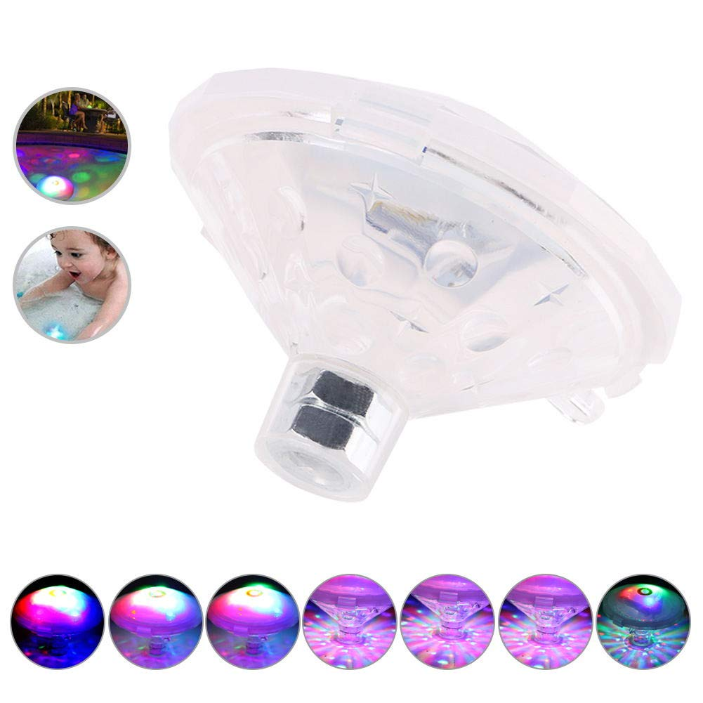 Winzwon Swimming Pool Lights Pond Lights Bath light Toys 7 Lighting Modes RGB Color Changing Floating Lights Party Living Room Bathroom Bathtub Swimming Pool Bar (Battery not included)