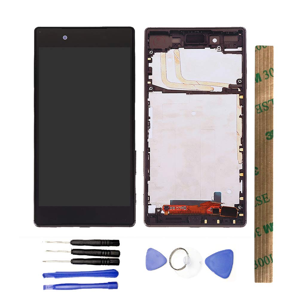 JayTong LCD Display & Replacement Touch Screen Digitizer Assembly with Free Tools for Xperia Z5 E6633 SO-01H E6683 E6603 E6653 S60 5.2'' Black with Frame by JayTong