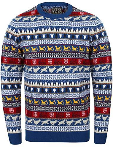Di Greetings Maglione Seasons Chiens Festa Marca Unisex Natale Adulti Bleu It Let Snow Natalizio qZxxwX