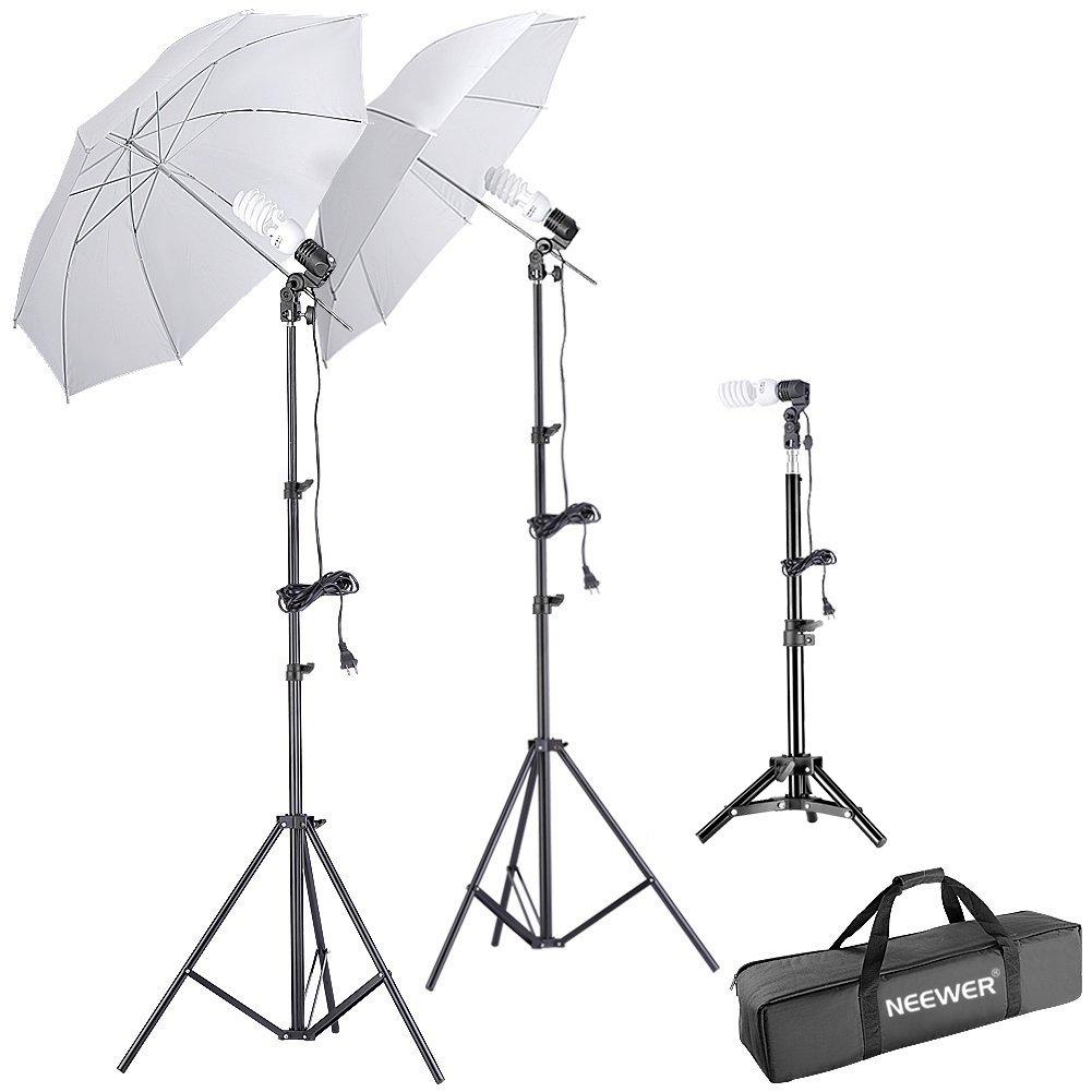 Neewer® 600W 5500K Photo Studio Day Light Umbrella Continuous Lighting Kit 10085697@@##1
