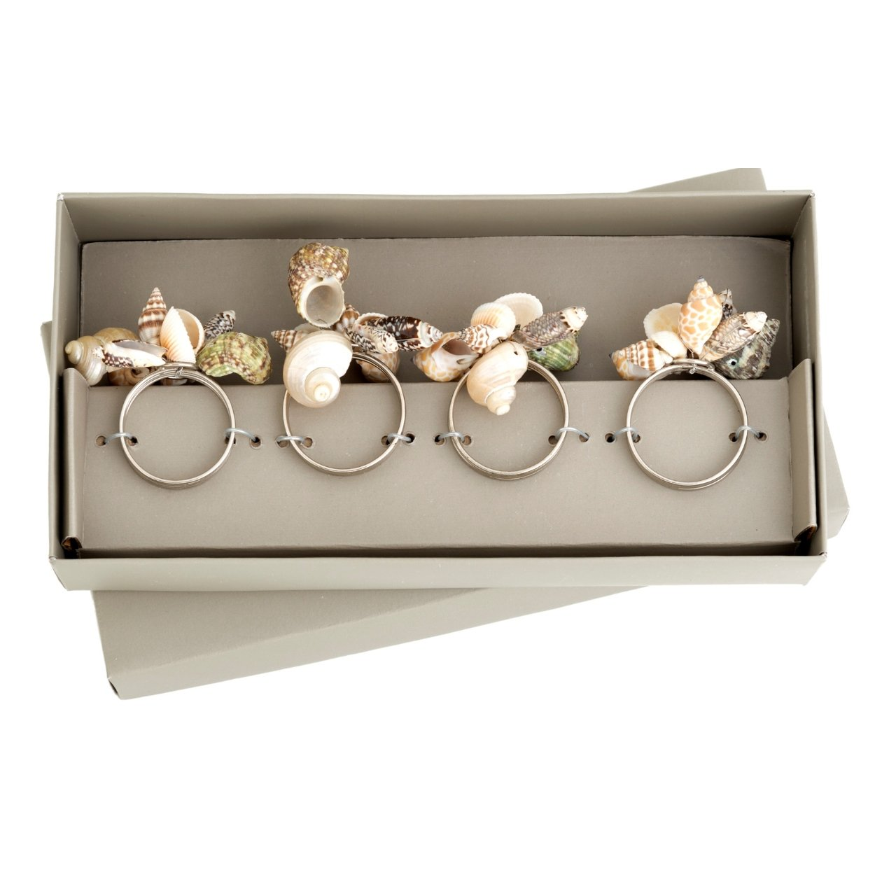 Shiraleah Sea Shell Napkin Rings, Set of 4