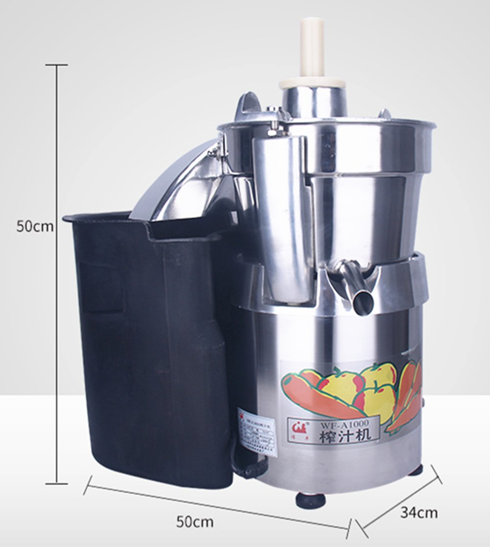 WF-A1000 Commercial large caliber Juice Extractor full stainless steel Juicer Juice machine Juicing machine Centrifugal Juicer Fruit and Vegetable juicer juice squeezer 750W 2800r/min 120-140kg/h by CGOLDENWALL (Image #4)