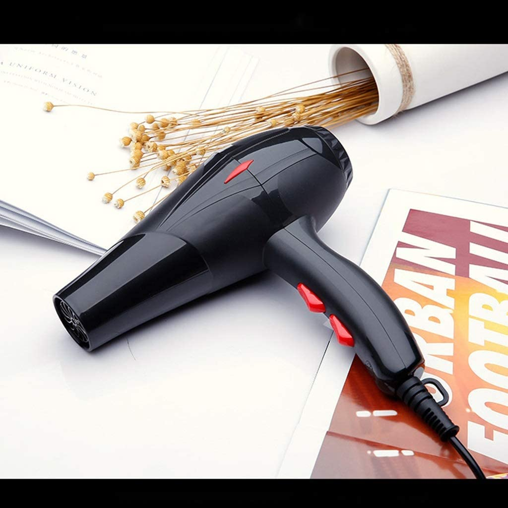 Profession Constant Temperature Hair Dryer, Black Men Blow Dryer 2 Speeds 3 Heat Settings Fast Dry Hair Hair Care Styling Tools (Color : Black) Black vVjQ6