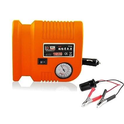 nuzamas Tire inflador portátil compresor de aire 150 PSI 3 adaptadores de válvula, 2.6 M