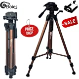 Eloies® Simpex 6 Feet Lightweight Photo Video Tripod for DSLR and Mobile Phones Action Cameras Free Mobile Tripod Holder