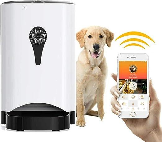 MIMI KING Alimentador Automático De Mascotas Dispensador De Alimentos Perros, Gatos Y Pequeños Animales, Cámara HD WiFi, Aplicación para Alimentación Fijando Ver Vídeo En Tiempo Real, 4.5 L Blanco: Amazon.es: Productos para