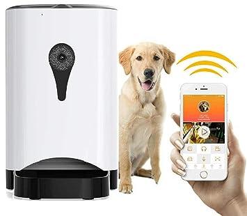 MIMI KING Alimentador Automático De Mascotas Dispensador De Alimentos Perros, Gatos Y Pequeños Animales,