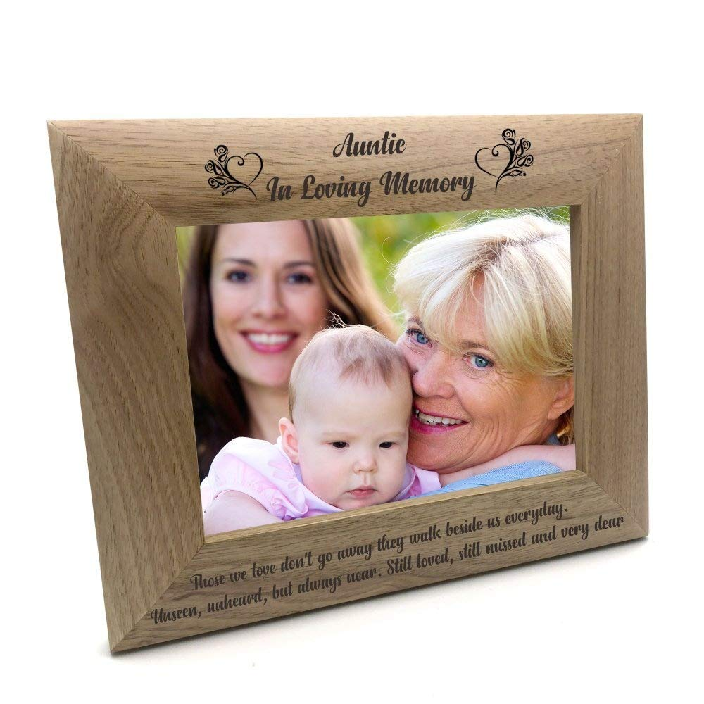 4 x 6 Inch ukgiftstoreonline Auntie Memorial Remembrance Photo Frame